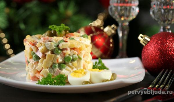 Салат оливье— гид по салату, как оформить и как подать