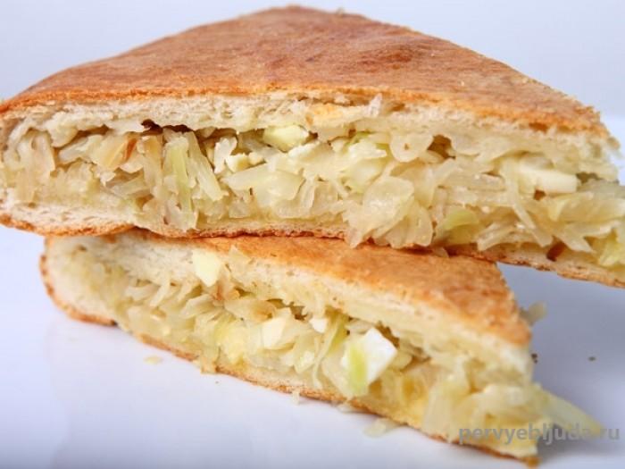 пирог с капустой и вареными яйцами
