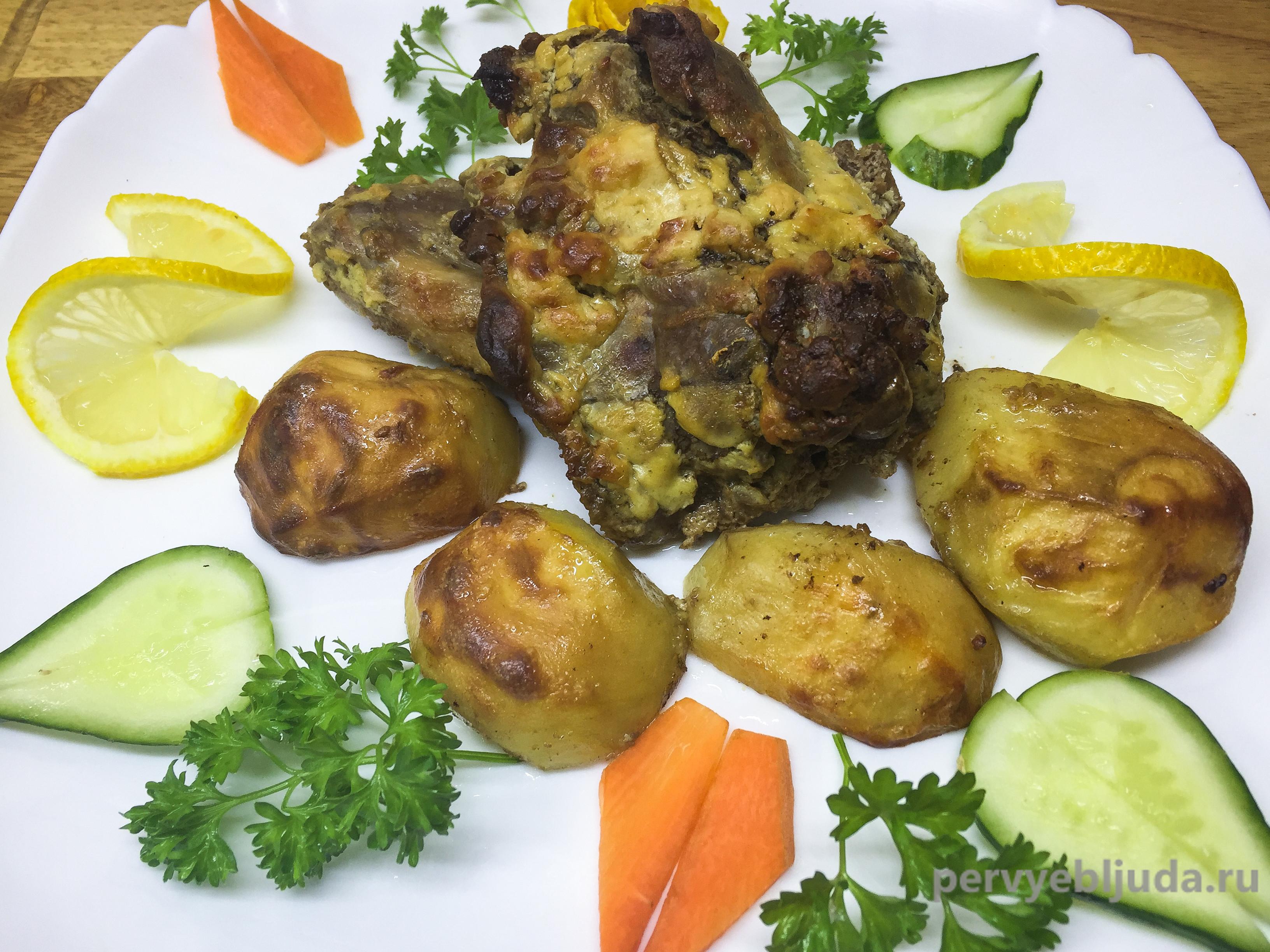 домашняя утка с картошкой в духовке