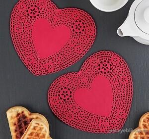 подставки для чашек в виде сердца