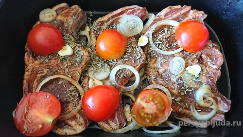 баранина с овощами в соевом соусе