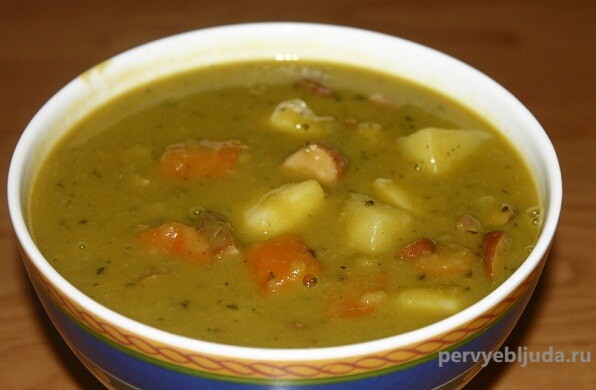гороховый суп без замачивания