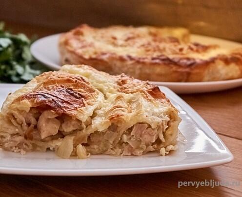 пирог с курицей и сыром из лаваша