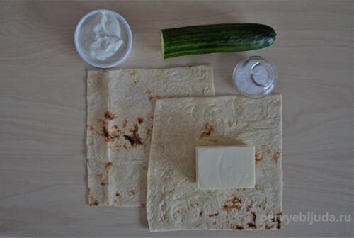 ингредиенты для закуски из лаваша