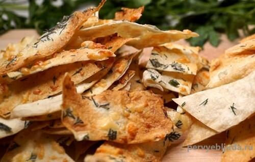 чипсы из лаваша