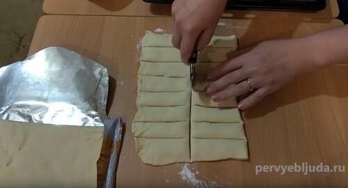 готовим слойки с джемом