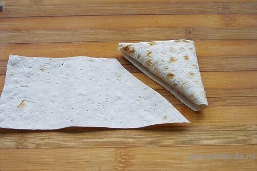 готовый конвертик из лаваша