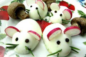 новогодняя закуска мышата