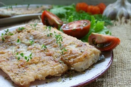 рыбное филе с овощами