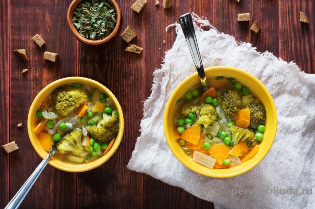 овощной суп с горошком