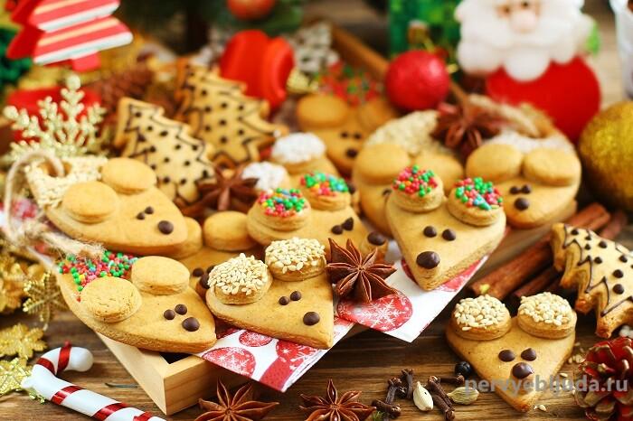 печенье мышата для елки
