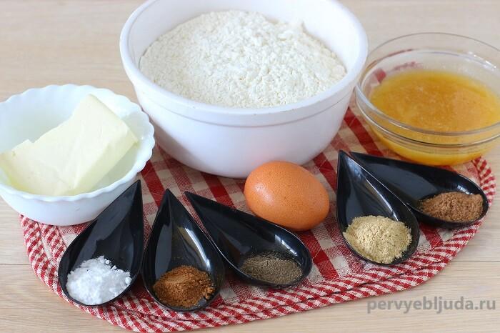 ингредиенты для имбирно-медового печенья
