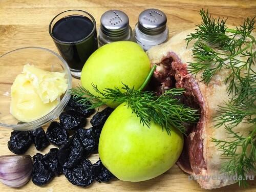 ингредиенты для приготовления утки с черносливом