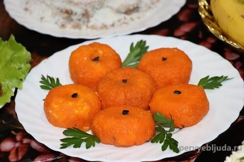 новогодняя закуска мандарины