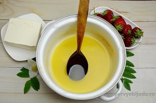 растопленный маргарин