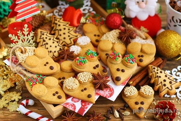Имбирно-медовое печенье «Мышки»— десерт к Новому году 2020