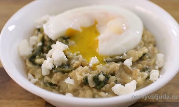 Полезный завтрак— овсяная каша со шпинатом!
