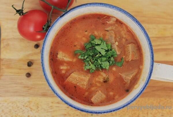 домашний суп харчо