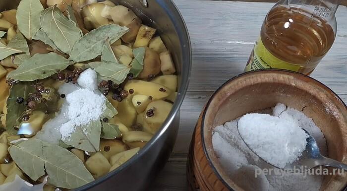 белые грибы в маринаде