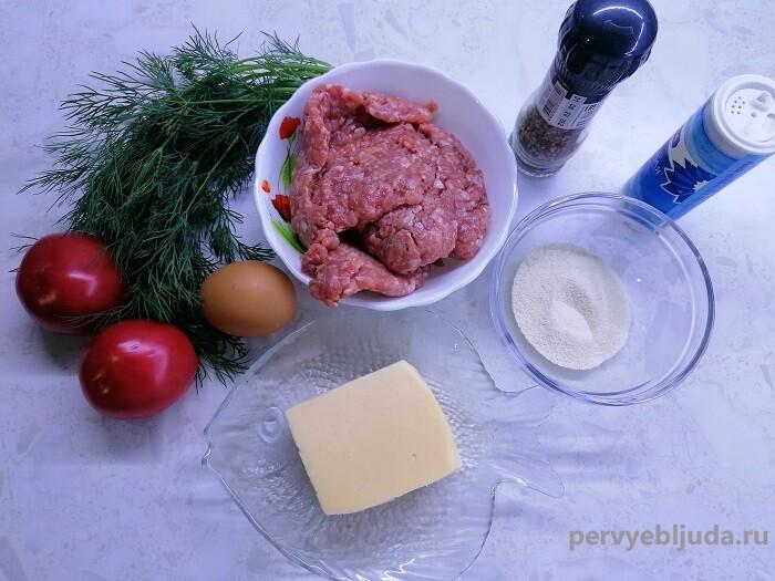 ингредиенты для приготовления мясных гнезд