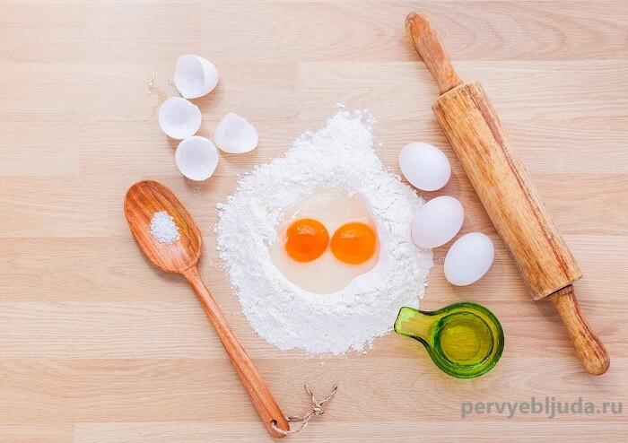ингредиенты для теста на домашнюю лапшу