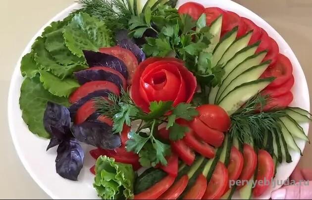 вариант овощной нарезки