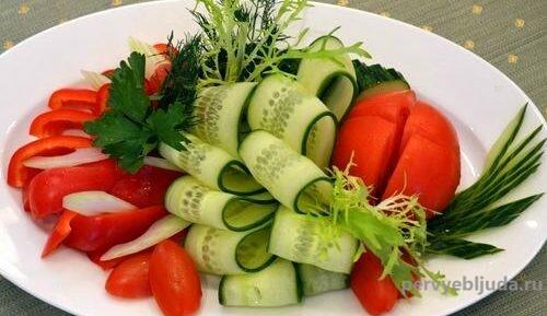 нарезка овощная