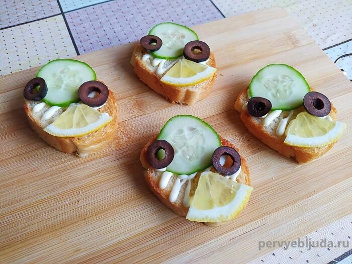 бутерброды с крецетками сборка
