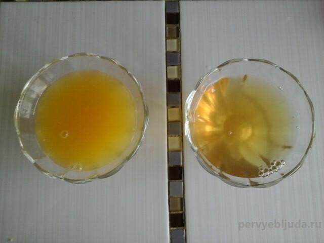 желе с апельсиновым соком и алкоголем