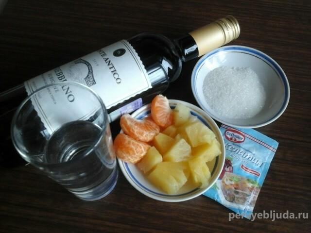 ингредиенты для желейного шота