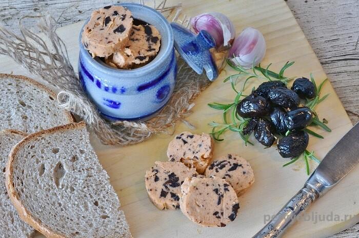 закусочное масло с оливками