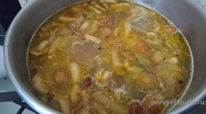 грибной суп с опятами