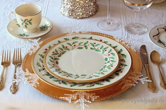 новогодние тарелки