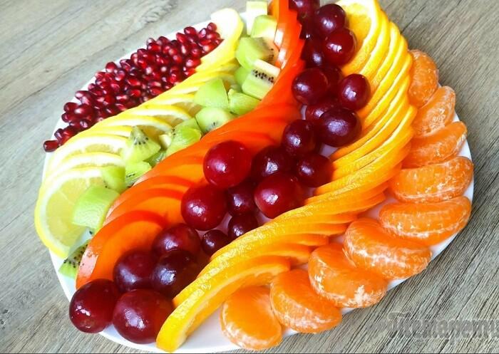 вариант фруктовой тарелки
