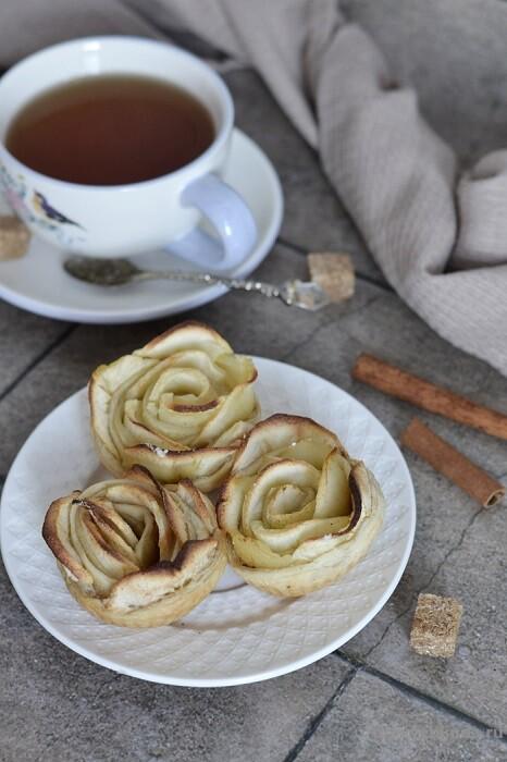 булочки розы из яблок