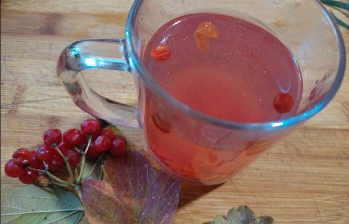 Вкусный и полезный чай с калиной и облепихой