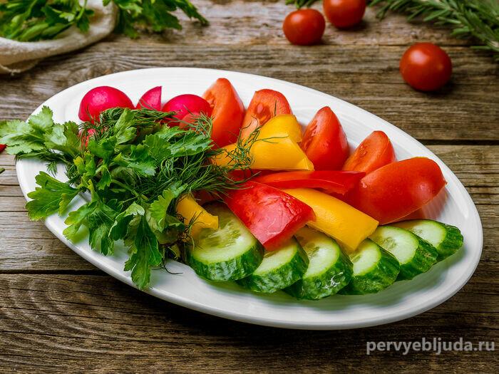 овощная нарезка для фуршета