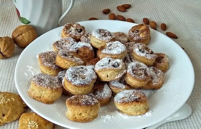 печенье на сметане с орехами