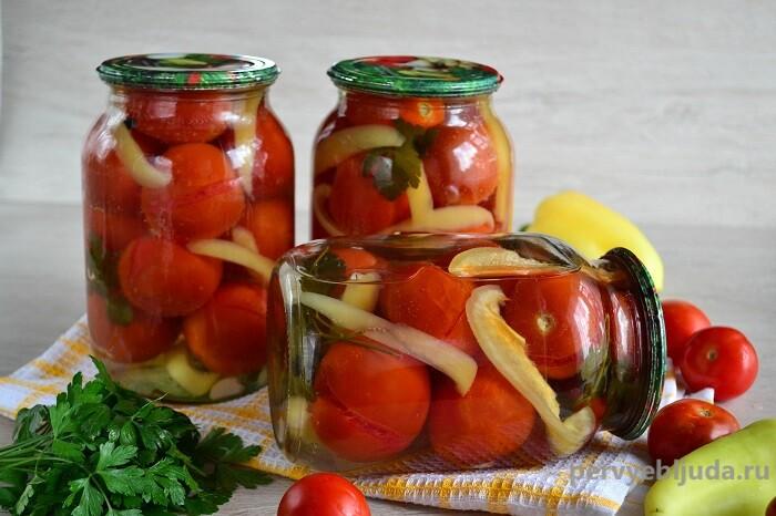 помидоры на зиму в маринаде