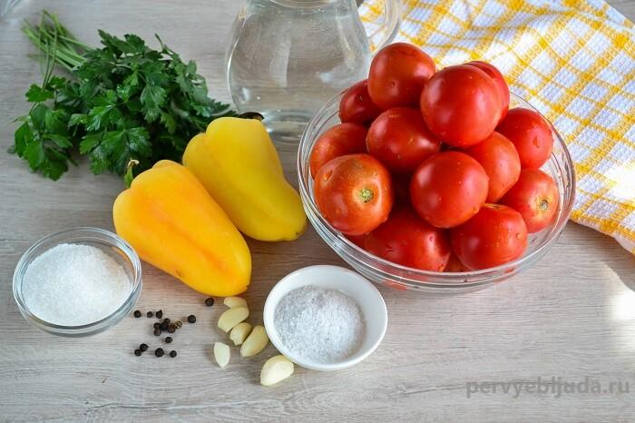 ингредиенты для маринования помидор