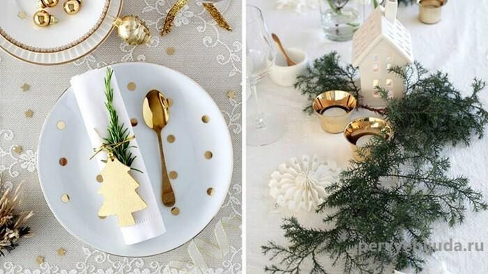тарелки к новогоднему столу
