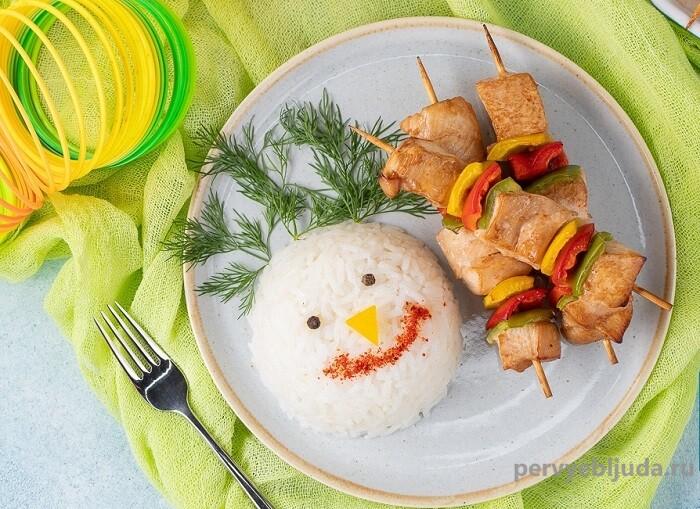 шашлыки из куриного филе для детей