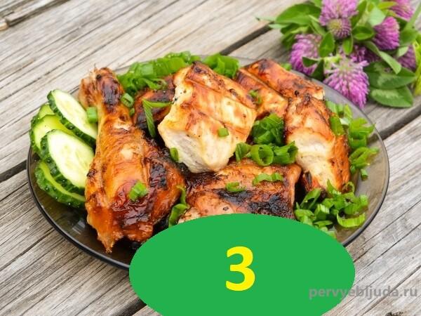 куриные окорочка в маринаде с уксусом и луком