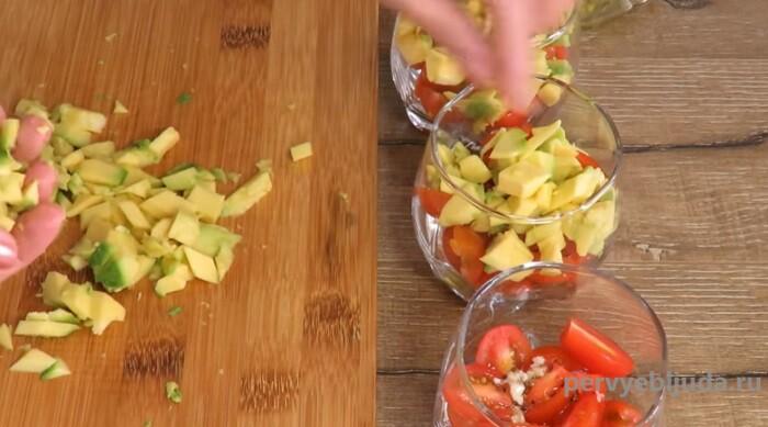 слой авокадо