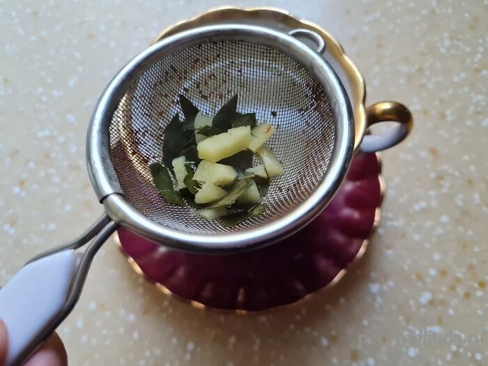 процеживаем чай