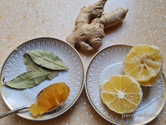 ингредиенты для имбирного чая