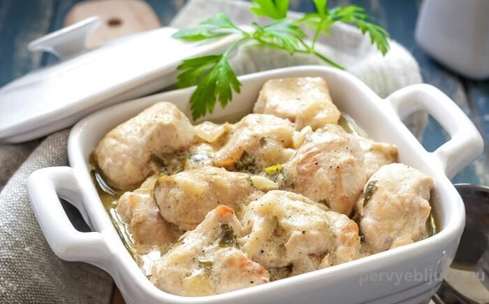 курица с картофелем в кефирном маринаде