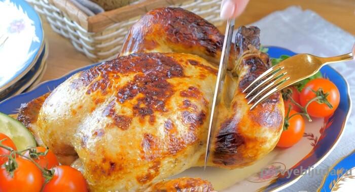 курица в духовке запеченная целиком