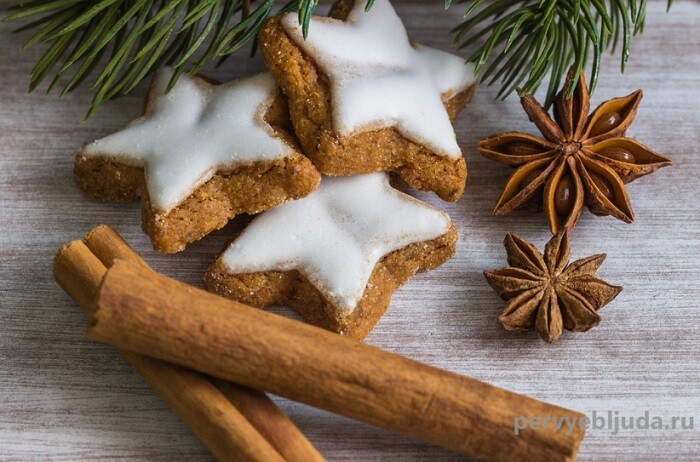 овсяное новогоднее печенье