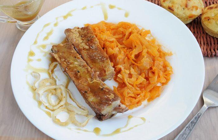 ребрышки в горчично-медовом соусе в духовке